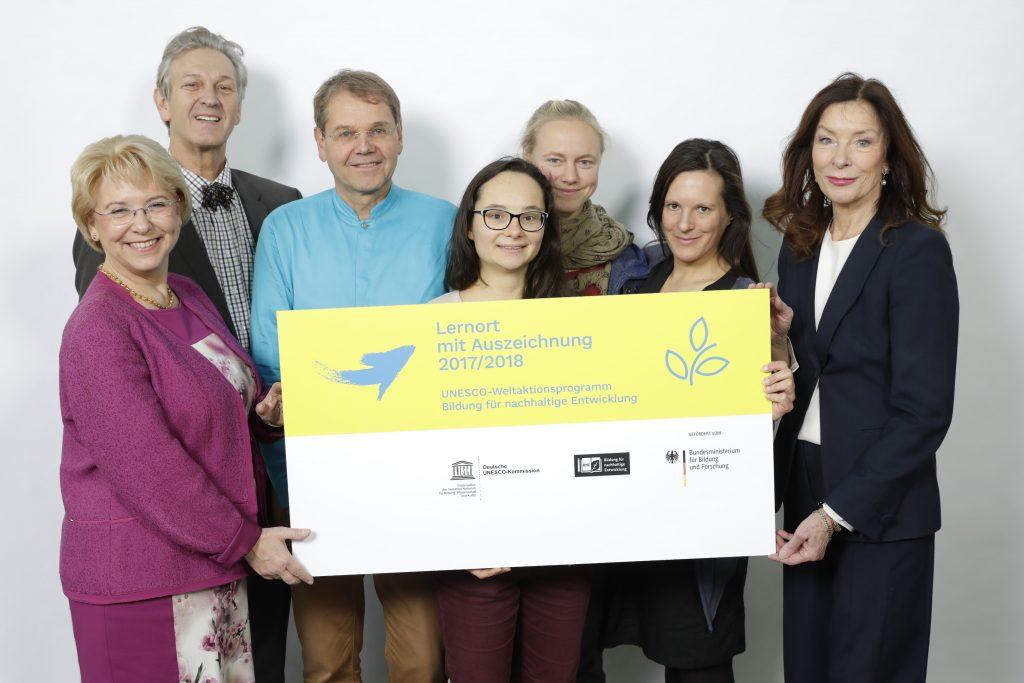 """Auszeichnungsveranstaltung: Schützer der Erde e. V. wird """"Lernort mit Auszeichnung 2017/2018"""" im UNESCO-Weltaktionsprogramm Bildung für nachhaltige Entwicklung"""